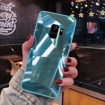 3D Diamond Mirror Case For Samsung Galaxy A9 A8 A6 J4 J6 Plus A7 2018 S9 S8 S7 Edge J3 J5 J7 Prime A5 2017 2016 Note 9 8 Cover 1