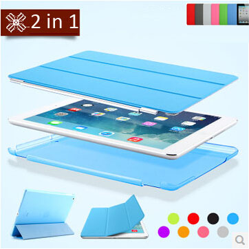 2 in 1 original design protective PU leather magnetic smart case for apple iPad air 2 cover case slim flip thin