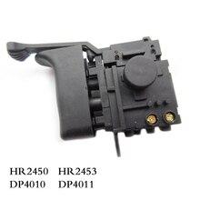 Darmowa dostawa! Elektryczna wiertarka udarowa przełącznik kontroli prędkości dla Makita HR2450/HR2453/DP4010/DP4011, akcesoria do elektronarzędzi