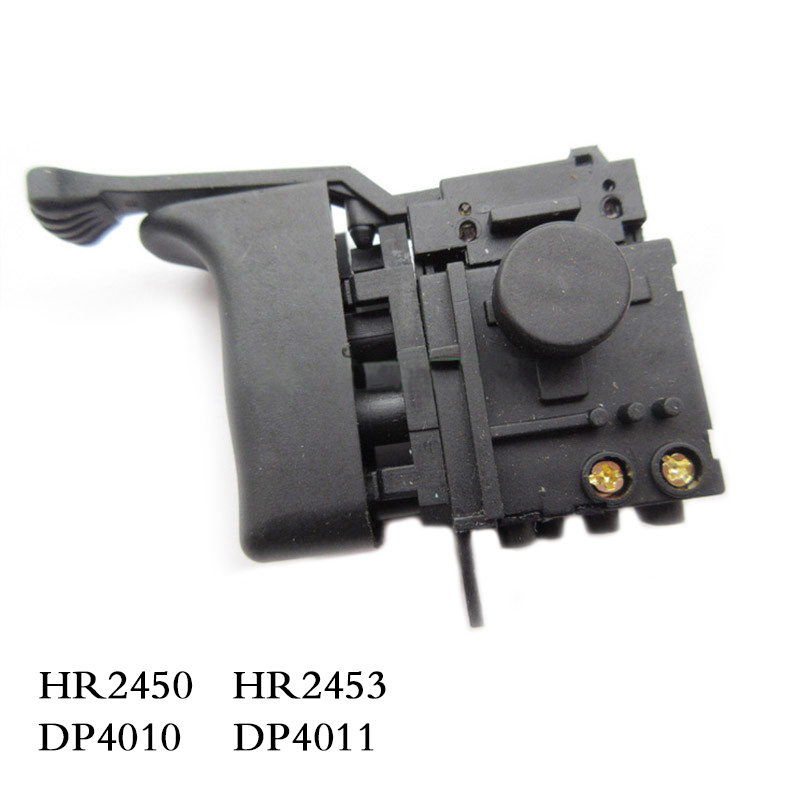 Free shipping! Electric hammer Drill Speed Control Switch for Makita HR2450 /HR2453/DP4010/DP4011,Power Tool Accessories high power dimmable 189mm led r7s light 50w cob r7s led lamp with cooling fan replace 500w halogen lamp
