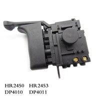 Frete grátis! Interruptor de controle elétrico da velocidade da broca do martelo para makita hr2450/hr2453/dp4010/dp4011  acessórios da ferramenta elétrica