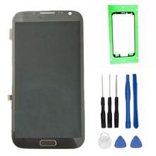 100 testowane wysokiej jakości dla Samsung GALAXY Note 2 N7100 N7105 LCD z ramką wyświetlacz + ekran dotykowy Digitizer zgromadzenia + narzędzia tanie tanio coreprime Pojemnościowy ekran Odnowiony AMOLED Galaxy note ii 1280x720 3 for Samsung GALAXY Note 2 N7100 Gray White