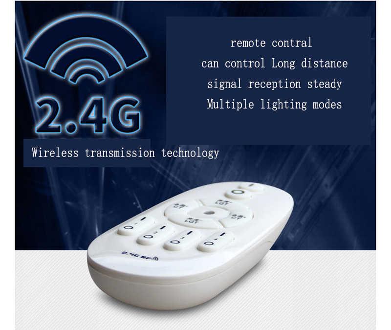 Wireless รีโมทคอนโทรล LED หลอดไฟอบอุ่นสีขาวเปลี่ยนสีหรี่แสงได้ E27 หลอดไฟ 9W 12W 6W AC85-265V Night Light