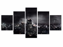 5 Panel City night scene Wall Pictures for Living Room Picture Print Painting On Canvas Art Home Decor/XC-City-66