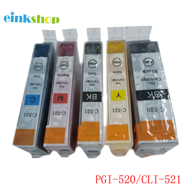 einkshop PGI-520 CLI-521 <font><b>Ink</b></font> <font><b>Cartridge</b></font> PGI 520 PGI520 For <font><b>Canon</b></font> PIXMA MP540 MP550 MP560 MP620 <font><b>MP630</b></font> MP640 IP3600 IP4600 IP4700 image
