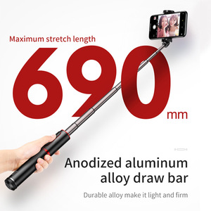 Image 5 - Baseus Bluetooth Selfie Stick Tripod Wireless Remote Selfiestick For iPhone Xiaomi Huawei Android Handheld Extendable Monopod