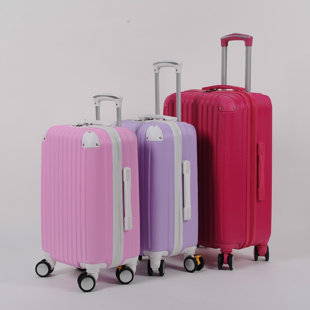 20 inch new multicolor universal wheel rolling suitcase Fashion and lovely zipper combination lock luggage suitcase 105