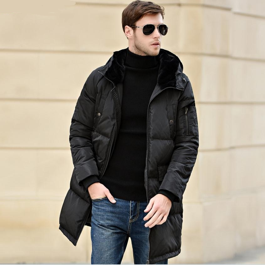M-4XL Plus size 2017 Winter fashion mens 90% duck down Jacket brand thicker warm Jacket Coats Casual warm jacket in cold w1567