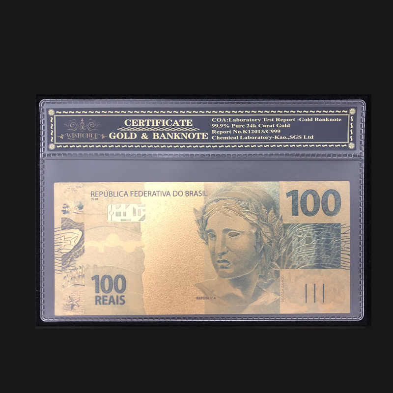 Best Products For Brazil Banknotes 100 Real Dollars Banknote With Coa Frame Collections Currency Crafts