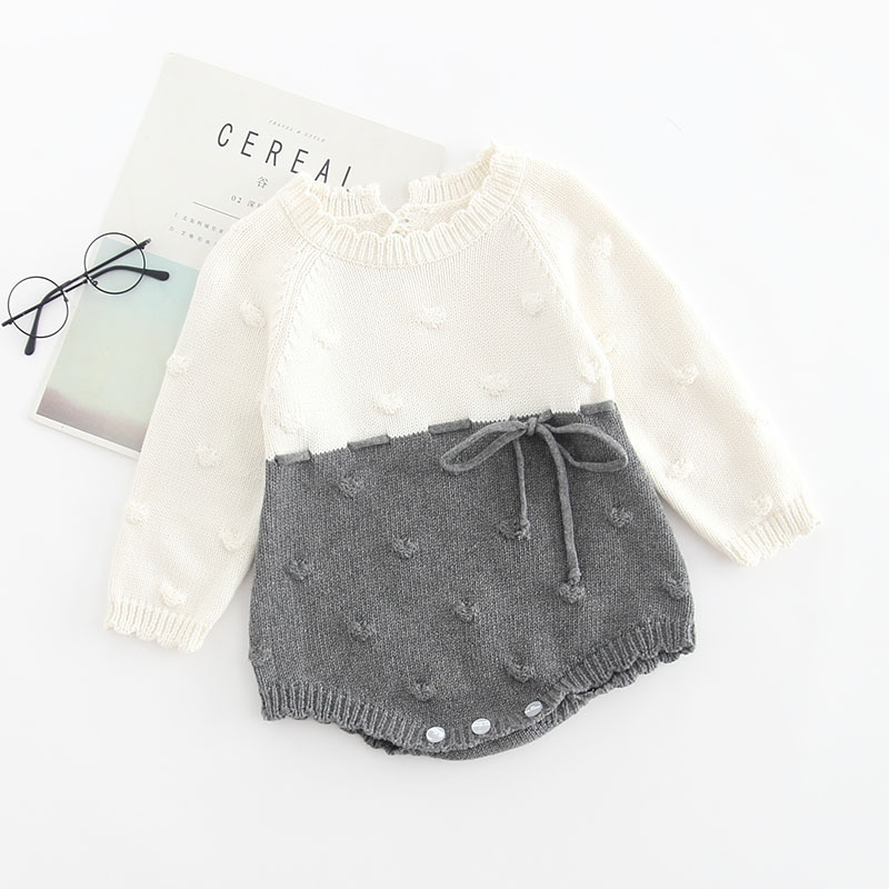 Image 5 - Baby Knitted Conjoined Clothes Autumn Kazakhstan 0 1 2 Years Old Childrens Sweaters  Farts And Climbing Baby BodysuitsBodysuits   -