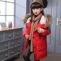 Детская мода вниз куртки верхняя одежда 2016 Новый Мальчик зимой вниз Пальто толщиной утка вниз Теплый девочка куртки-30 градусов