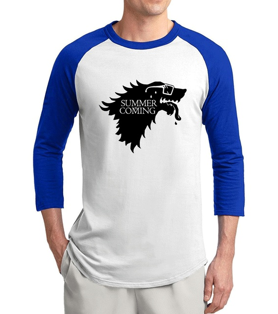 dad609210 2017 Spring Summer 3/4 Sleeve T Shirt Funny Summer Is Coming Game Of  Thrones Men T-Shirts 100% Cotton Brand-Clothing For Fans