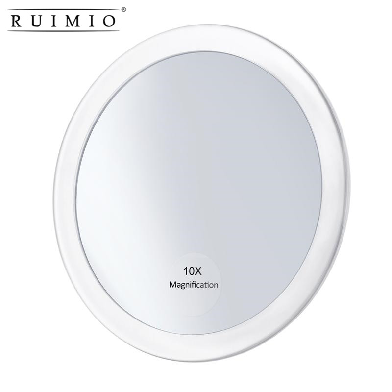 Magnifying Round Mirror Make Up Folding Pocket Cosmetic Mirror  Compact  Cosmetics Tools Mirror With 3 Suction Cups 5.9 Inch Зеркало
