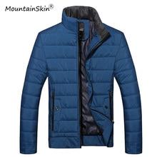Mountainskin Neuen männer Winterjacken Warme Dicke Parkas Männer Feste Stehkragen Mäntel Mode Männer Thermische Jacke Marke LA590