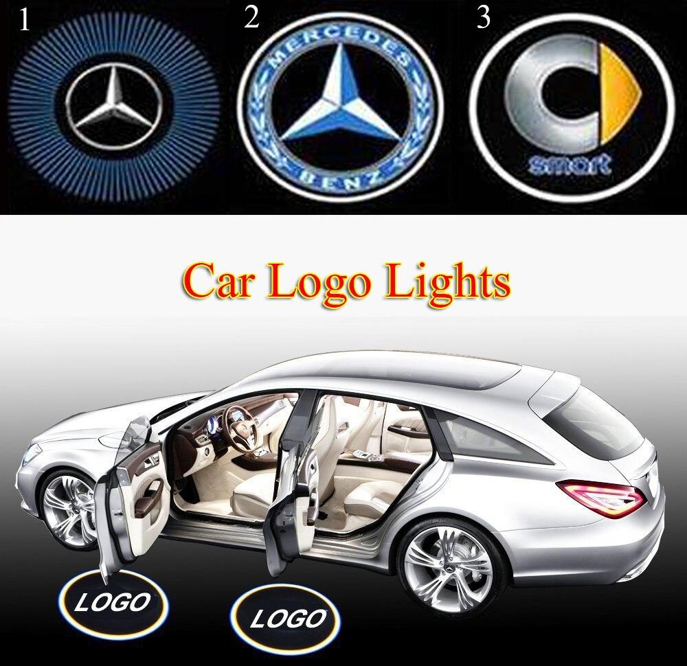 Rubber floor mats for glk350 - Car Led Door Warning Logo Light Emblem Laser Lamp Ghost Shadow Projector For Benz X204 Glk
