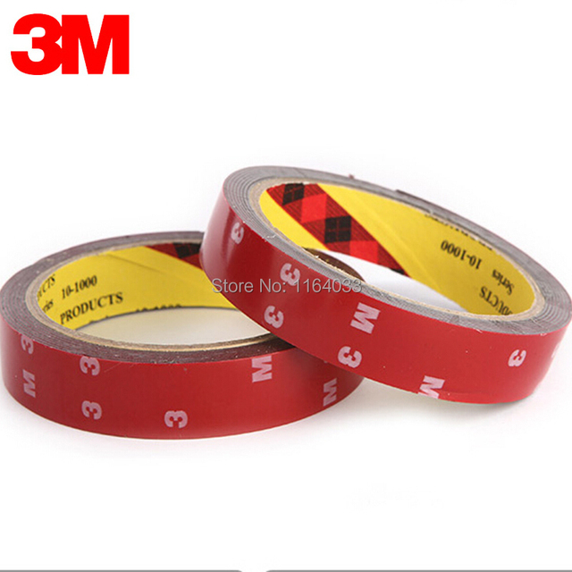 buy 3m tape 20mm double sided sticker acrylic foam adhesive car interior tape. Black Bedroom Furniture Sets. Home Design Ideas