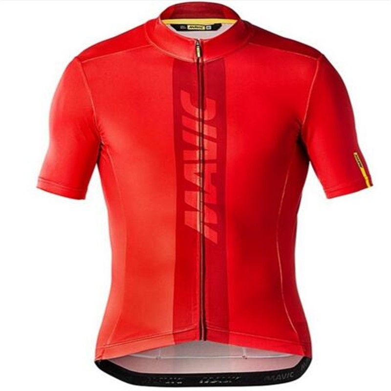 2018 Newest Men font b Mavic b font Summer Cycling Jersey T shirt Ropa Ciclismo Quick
