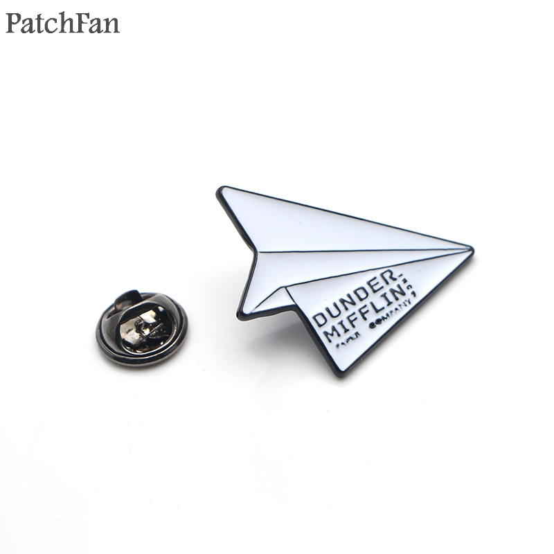 Adroit Patchfan The Office Dunder Mifflin Infinity Paper Plane Zinc Pins Backpack Clothes Brooches For Men Women Hat Badges Medal A1808 Buy Now Home & Garden