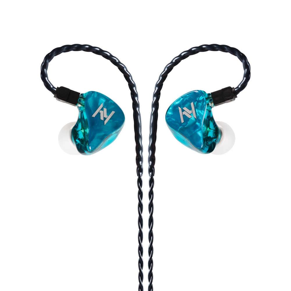 Yinyoo ASH 1BA + 1DD в ухо наушники HIFI бас наушники диджея наушники гарнитура с 2PIN съемный кабель