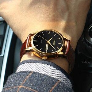 Image 4 - Olevs メンズ腕時計トップブランドの高級クォーツ腕時計リロイ hombre ファッションカジュアルビジネス革メンズ腕時計レロジオ masculino