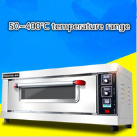 380V 50~400 Degree Celsius Professional Commercial Electric Oven 1 layer 2 Trays Electric Pizza Oven Baking Bread Cake Egg Tart