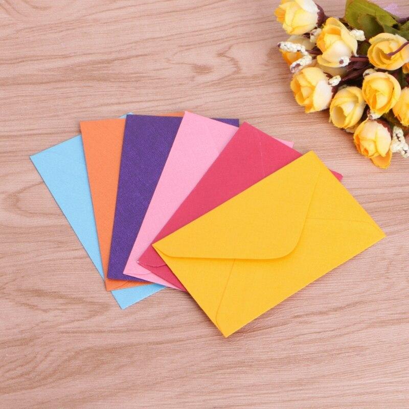 50Pcs Retro Blank Mini Paper Envelopes Wedding Party Invitation Greeting Cards Gift