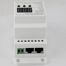 BC-835-010V-DIN-RJ45 Din Rail 5CH led DMX512/1990 signal to 0-10V or PWM 10V 5V converter DMX512 controller,DC12V-24V