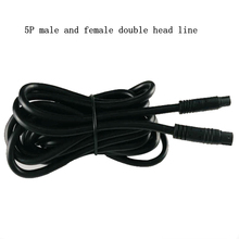 Reversing camera extension cord 5 core car rear view image five hole lengthening line recorder 5P