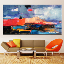 Hot sale handpaited Large oil Painting on canvas Abstract Modern vertical acrylic Canvas Art Living Room Office picture