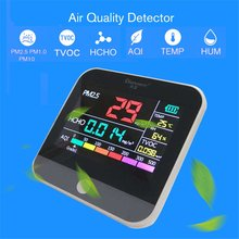 AQI Air Quality Analysis Tester PM2.5/HCHO/TVOC Temperature Humidity Monitor Gas Detector Analyzer Measuring Tool Smog Meter
