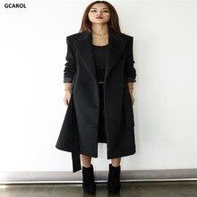 Women Elegant Fashion Long Overcoat With Sashes V-Neck Fashion OL Work Wear Plus SIze XL Coat Spring Autumn Winter Coat