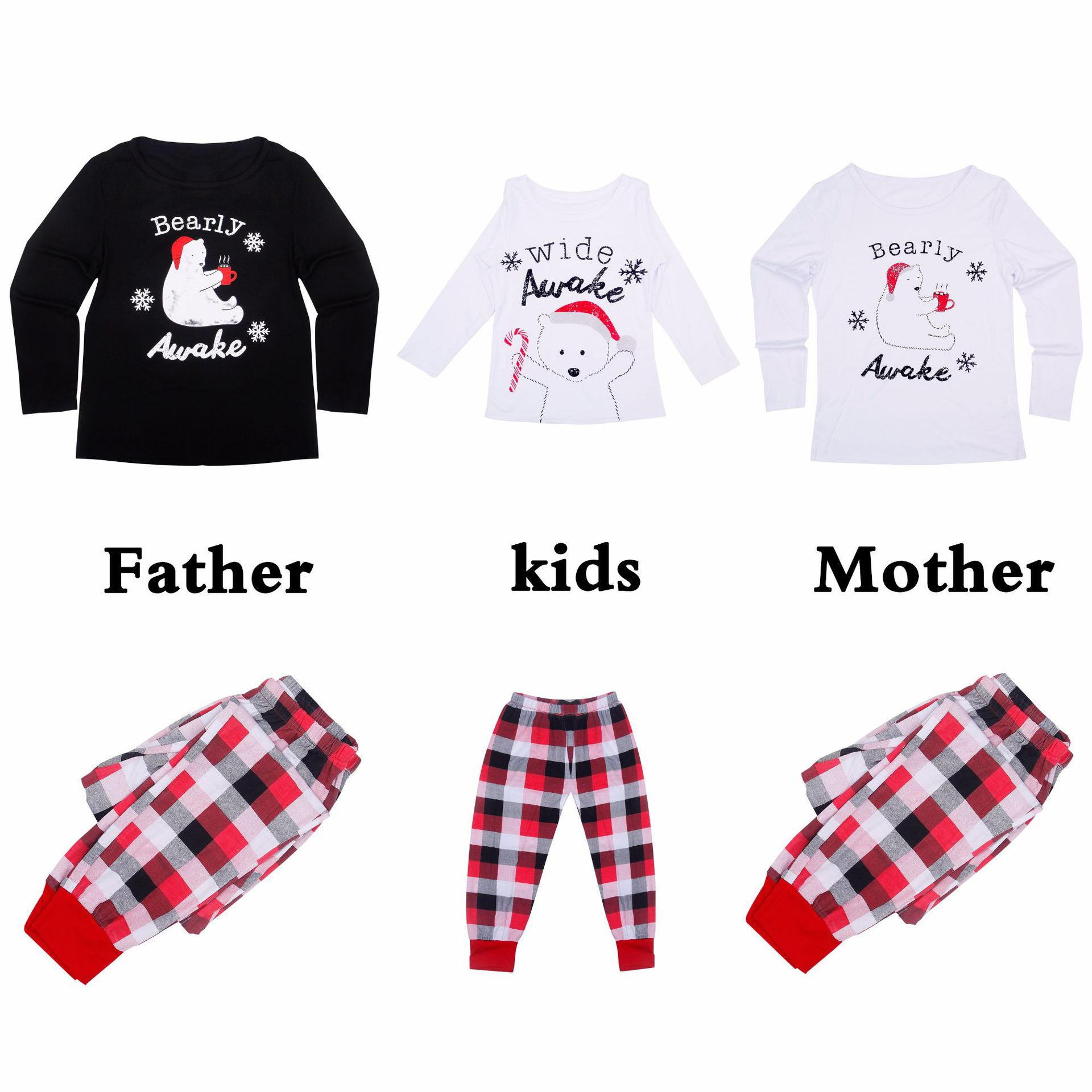 New 2018 Christmas Family Matching Outfits Pajamas Sleepwear Set ... c2aea2464