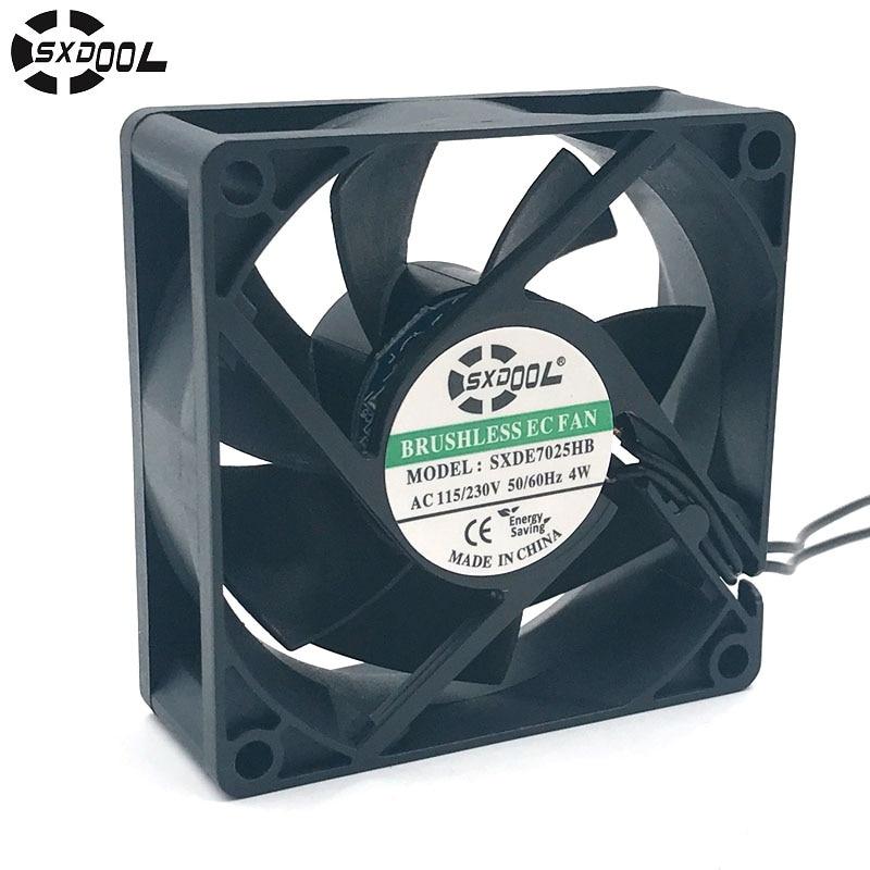 Вентилятор охлаждения SXDOOL SXDE7025HB 110 в 115 в 220 в 230 В 7025 70*70*25 мм 70 мм 4 Вт 3500 об/мин 27,6 cfm, осевой кулер
