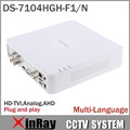 Multilanguage HIK DS-7104HGH-F1/N 720 P 4CH Turbo XVR Soporte DVR HD TVI Cámara Analógica AHD