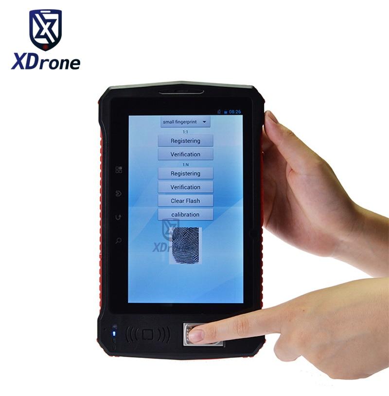 China Industrial Rugged Tablet PC Fingerprint Reader UHF RFID 2D Laser Barcode Scanner Android 6.0 7
