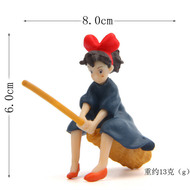Little Girl Sitting On The Broom Flying Doll Diy Dolls Crafts Home Decoration Accessories Feng Shui Miniatures Figurine Garden 5