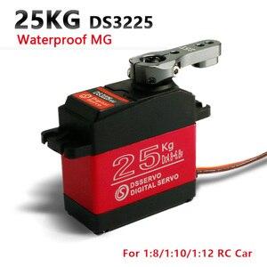 Image 1 - 1X RC servo 25 кг DS3225 core или coreless цифровой сервопривод, водонепроницаемый сервопривод, цельнометаллическое снаряжение, сервопривод для автомобилей baja и радиоуправляемых автомобилей
