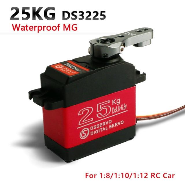1X RC servo 25 кг DS3225 core или coreless цифровой сервопривод, водонепроницаемый сервопривод, цельнометаллическое снаряжение, сервопривод для автомобилей baja и радиоуправляемых автомобилей