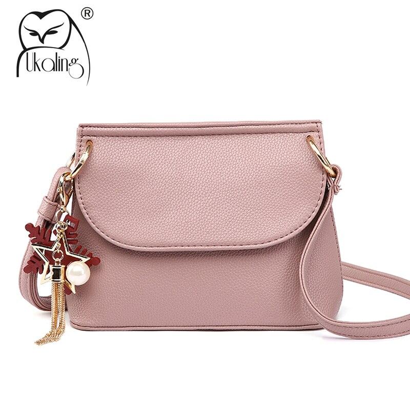 04b7457fd4e8 UKQLING Small Women Messenger Bags PU Leather Women Bag Leather Flap Handbag  Cross Body Bag Ladies Purse Handbag with Long Strap-in Top-Handle Bags from  ...