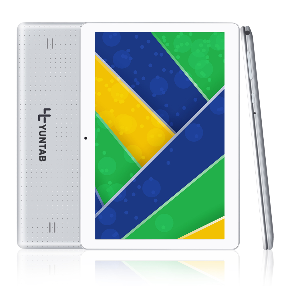 Yuntab 10.1 '' K107 Android 5.1Tablet 1 GB + 16GB Quad-Core Phablet Sliver Color Unlocked شکاف های سیم کارت دوگانه بلوتوث GPS داغ