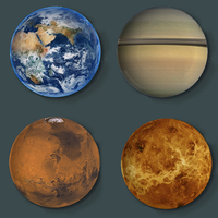 Creative Universe Starry Eight Planet Series Dinner Plate Ceramics Plates Wall Hanging Dishes Background Home Hotel Decoration