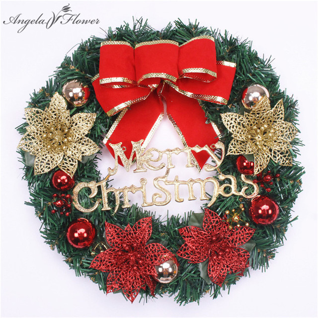 30cm Christmas garland Ornaments Christmas Wreath Doors Hanging ...