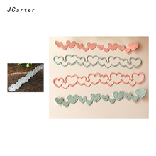 JCarter Special Heart Strip Metal Cutting Dies for Scrapbooking DIY Album Embossing Folder Paper Photo Maker Template Stencil