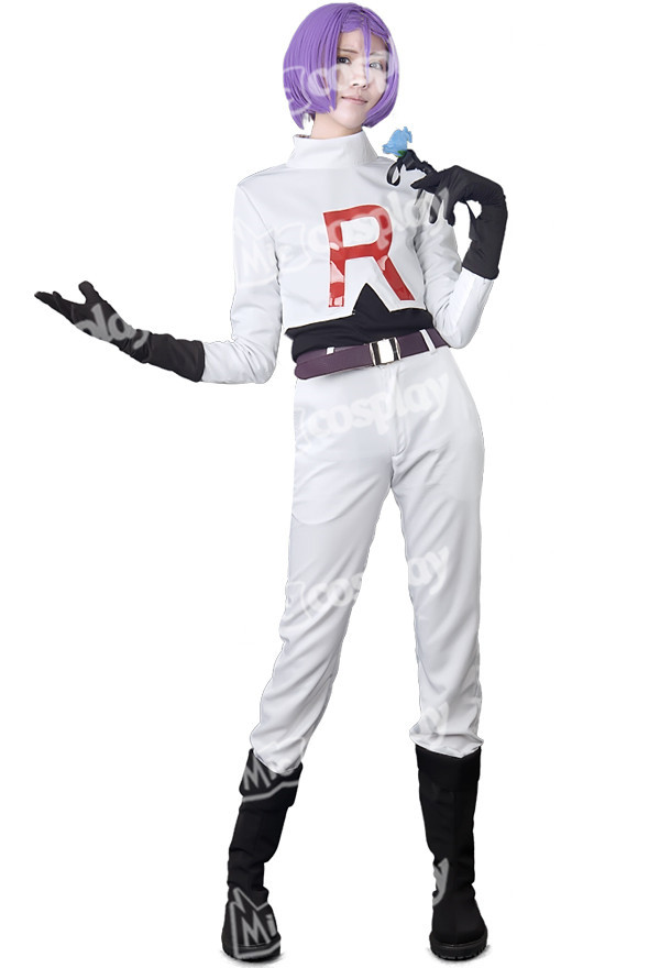Team Rocket James Cosplay Halloween Party Costume Clothing