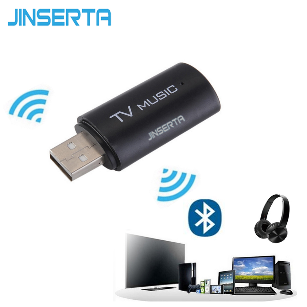 JINSERTA 2018 Brand New Wireless Audio Bluetooth Transmitter Music Stereo Dongle Adapter For TV ...