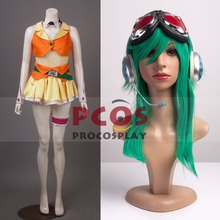 Best Set~ Vocaloid Gumi Cosplay Costume& Headphone& Wig & Glasses mp000043