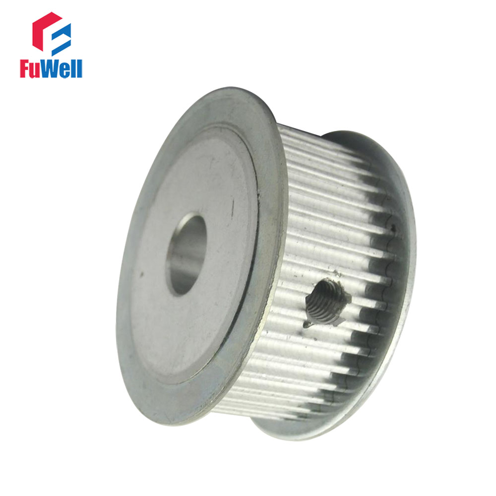 HTD 3M-100T Timing Pulley 8/10/12/14/20mm Inner Bore Toothed Belt Pulley 16mm Belt Width Aluminum 100Teeth Wheel Gear Pulley control high speed double flanges 100teeth at10 timing belt aluminum pulley wheel gear cheap price