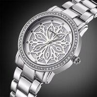 Relogio Feminino CRRJU New Luxury Hiệu Phụ Nữ Ăn Mặc Đồng Hồ Steel Quartz Xem Diamonds bạc Đồng Hồ Cho Womans Đồng Hồ Đeo Tay