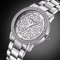 Relogio Feminino CRRJU New Luxury Brand Women Dress Watches Steel Quartz Watch Diamonds Silver Watches For