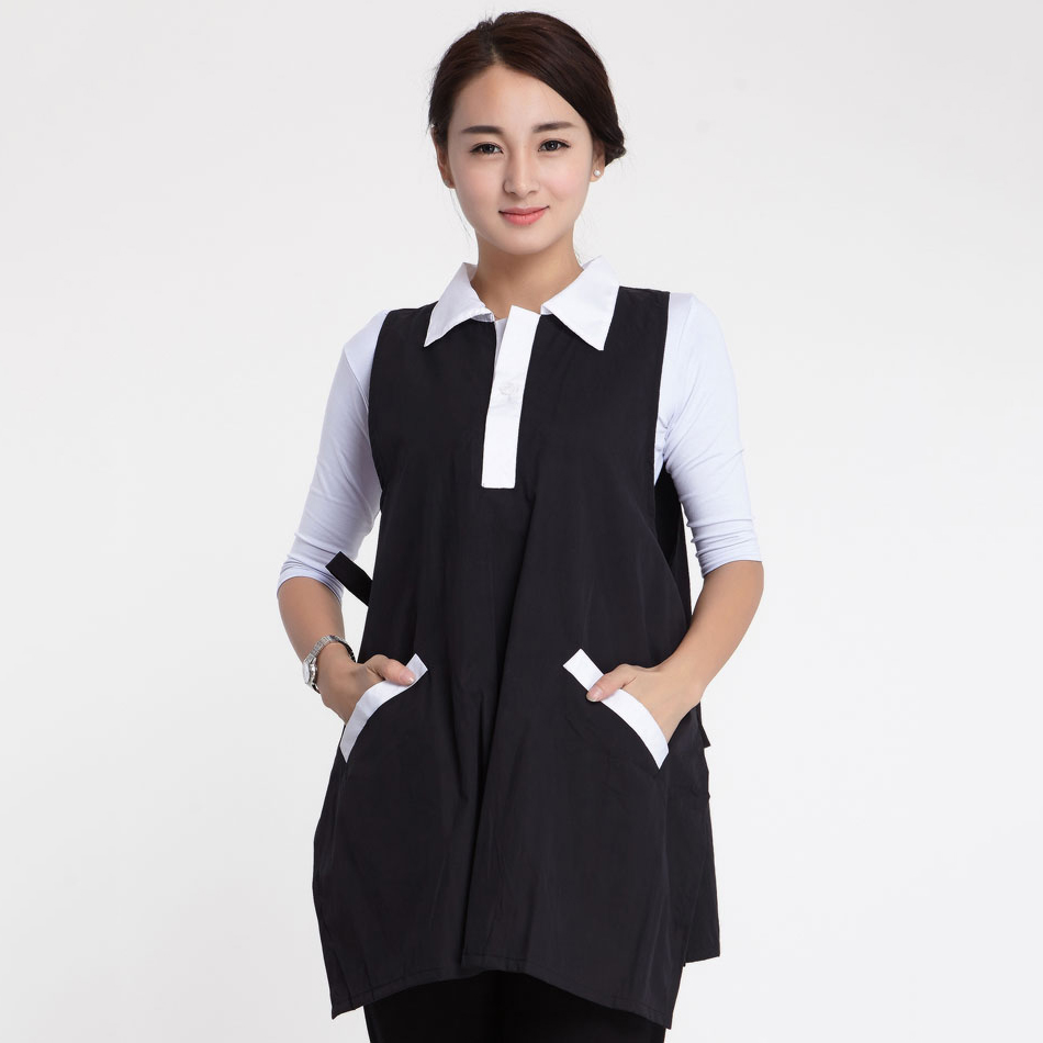Salon Hairdresser Styling Cape Hairstylist Assistant White Collar Woriking Uniform Apron Hair Perm Dye Waterproof Gown Tool 1283 gown